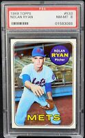 1969 Topps Strike Out King Vintage NOLAN RYAN Card PSA 8 NM-MINT Only 123 Higher
