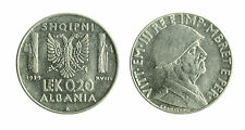 pcc1712_3) ALBANIA Vittorio Emanuele III  (1939-1943) 0,2 LEK 1939