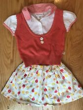 American Girl  Bitty Baby 2010 Birthday Party set outfit skirt top orange vest