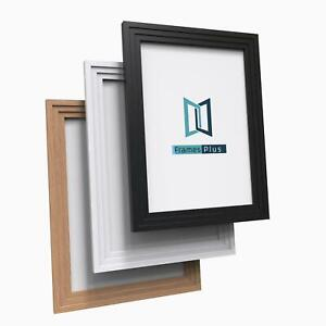 Black White Oak Wood effect Picture Photo Poster Frames Large Square All sizes