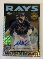 Austin Meadows 2021 Topps Silver Pack Retro Refractor Autograph /50 TB Rays