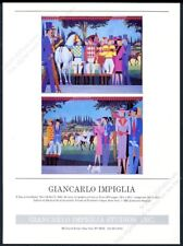 1986 Giancarlo Impiglia horse racing A Day At The Races art NYC studio print ad