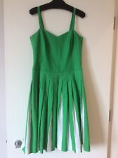 Boden green white 1950's style Matilda dress UK 12 Long ~ New Without Tags ~