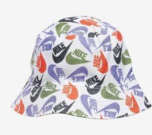 Nike Futura Poolside Reversible White Bucket Hat