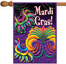 Toland Happy Mardi Gras 28 x 40 Colorful Celebrate Double Sided House Flag