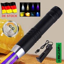 UV Lampe LED Taschenlampe 395nm+365nm+Weiß+Gelb Scorpion Bernstein Schwarzlicht