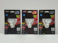 Lot Of (3) FEIT Electric GU10 Performance LED FOR TRACK LIGHTING