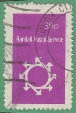 GB Randall Postal Service Local Post used 35d red violet
