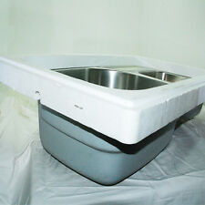 Franke PRX120RH 34 Inch Undermount Double Bowl Stainless Steel Strainer Included