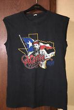 Medium Vtg 80s Willie Nelson Screen Stars Cotton Tank T-shirt Usa Size L
