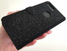 Black Jet Made with Swarovski Crystal Bling Jewel Card Wallet Case iPhone 6 Plus