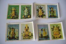 4 Stück DDR Weihnachten Abziehbilder Schiebebilder