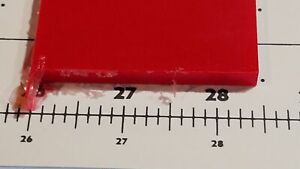 """1/4"""" x 2-1/4"""" X 24""""  URETHANE / POLYURETHANE 95 A RED SHEET P/N 12561"""