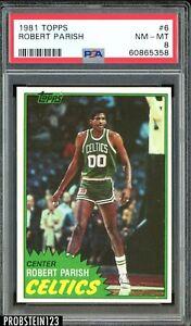1981 Topps Basketball #6 Robert Parish Boston Celtics HOF PSA 8 NM-MT