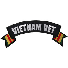 """VIETNAM VET Patch 11"""" wide by 3"""" tall  Iron-on / Sewn-on"""