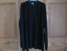 Vince Camuto NWT XL Black Open Cardigan with Sheer Arms Pretty Staple in Closet