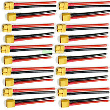 10 x PAIRS Of RC XT60 Lipo Battery Connector + 10cm Wire Male Female Plane Boat