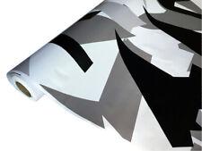 Camouflage Autofolie 100cm x 152cm Luftkanäle Schwarz weiß Grau #32