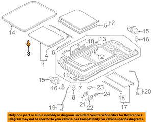 AUDI OEM 13-16 allroad-Sunroof Glass Mount Kit 8K9898955