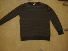 EUC Quicksilver Gray Striped L/S Sweater Sz L