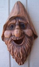 Bird House Woodsman Old Man Harry NEW wall fence or tree mount polyresin rustic