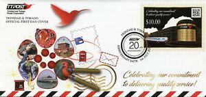 Trinidad & Tobago Postal Services Stamps 2019 FDC TTPost 20 Years Cars 1v Set