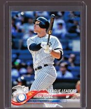 2018 Topps Series 1 #111 Aaron Judge League Leaders Mint Free Shipping