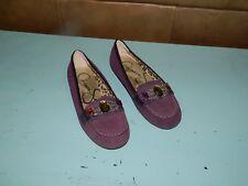 Jessica Simpson Girls Jackie Moc Purple Suede Jewel Shoes Size 3