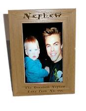 Nipote di legno Photo Frame 6x8-personalizzare questo riquadro-INCISIONE GRATUITA