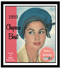 1950 S-Berretto Francese Cappello Sewing Pattern-riproduzione modello