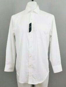 Lauren Ralph Lauren Men's Dress Shirt, Size 15.5,32-33, White, Cotton/Elastane