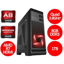 AMD Quad Core A8 7600 3.8GHz, 8GB, AMD R7 HDMI - Gaming PC - Fast Delivery