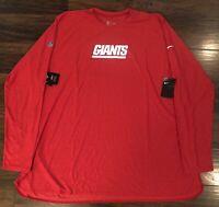 Nike New York Giants Long Sleeve Shirt Men's Size XL 907217-687 NWT
