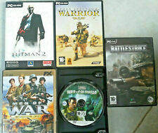 2/4 LOTTO 5X GIOCHI PC ITA FPS HITMAN 2 FULL SPECTRUM WARRIORS MEN OF WAR