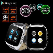 Waterproof X01S Smart Watch Phone Android 5.1 Unlocked 3G WiFi Heart Rate 1G/8G