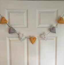 Handmade Fabric Shabby Chic Love Heart Wedding Nursery Garland Bunting