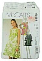 McCalls 5583 Misses Miss Petite Dresses Slip Sewing Pattern Size 14-20 UNCUT OOP