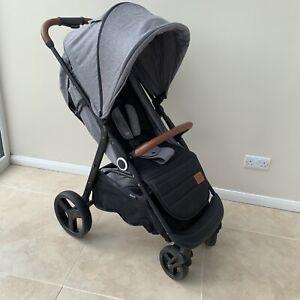 KinderKraft Grande Pushchair Pram Stroller (good Condition) Footmuff & RAINCOVER