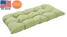 Bossima Outdoor/Indoor Cushion Patio Porch Wicker Swing Loveseat Pad Green/grey