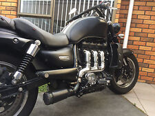 Triumph Rocket 3 exhaust XB08 Extremeblaster tunable pipe slip on to header
