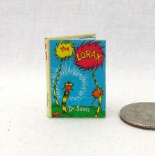 THE LORAX Miniature Book Illustrated Miniature Dollhouse 1:12 Scale Dr. Seuss