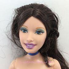 Dark Brown Brunette Hair Fair Skin Belly Button Barbie Doll Island Princess PI