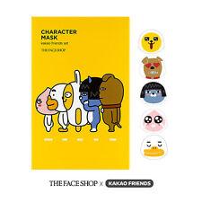 THEFACESHOP x KAKAO FRIENDS Character Face Mask Sheet Set Korean Cosmetics (5ea)