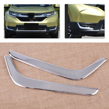 2x Auto Chrome ABS Front Fog Lamp Light Eyelid Cover Trim Fit For Honda CRV 2017