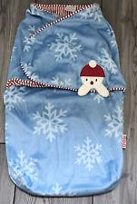 Cocalo Christmas Swaddle Blanket Snowman Babys First Christmas  Snuggle Sack 0-3