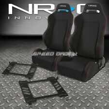 NRG 2 TYPE-R RED STITCHES  RACING SEATS+BRACKET FOR 05-14 FORD MUSTANG/GT S-197