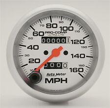 "AUTOMETER ULTRA LITE IN DASH MECHANICAL SILVER 3 3/8"" 160 MPH SPEEDOMETER SPEEDO"
