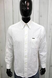Camicia Calvin Klein Uomo Taglia S Chemise Shirt Cotone Logo Man Manica Lunga