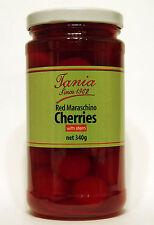 Tania Red Maraschino Cherries with Stem 340g
