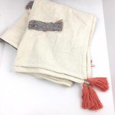 Martha Stewart Whim Rainbow Throw Blanket Fringe Patch Tassel Accents $100